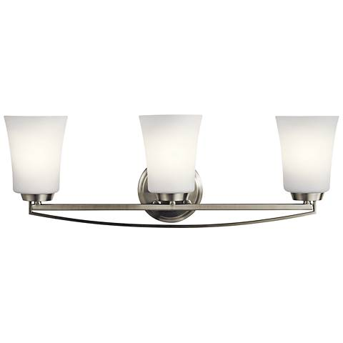 "Kichler Tao 24 1/4"" Wide Brushed Nickel 3-Light Bath Light"