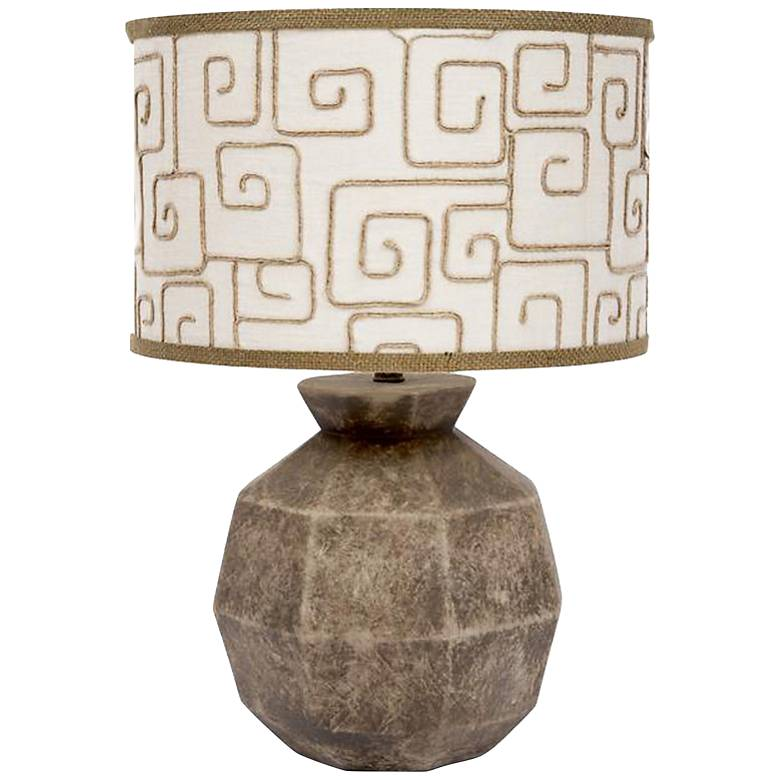 Hillsboro Bedrock Sphere Ceramic Table Lamp