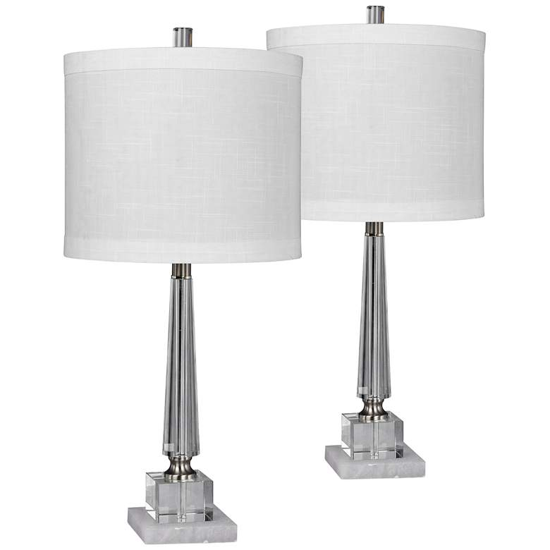 Browerdale Tapered Clear Crystal Table Lamps - Set of 2