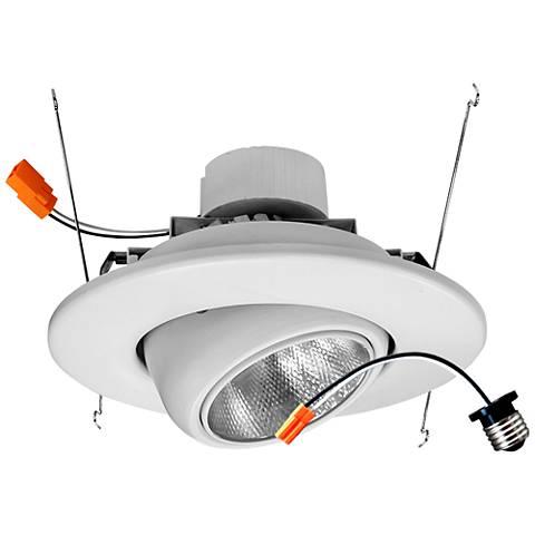 "5/6"" White Eyeball 19 Watt LED Retrofit Trim"