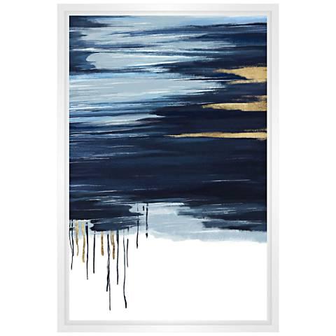 Blue Horizon Framed Canvas Wall Art