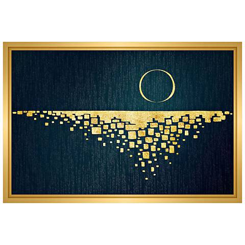 "Moon Rising 21 3/4"" Wide Framed Canvas Wall Art"