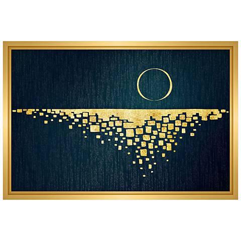 "Moon Rising 31 3/4"" Wide Framed Canvas Wall Art"