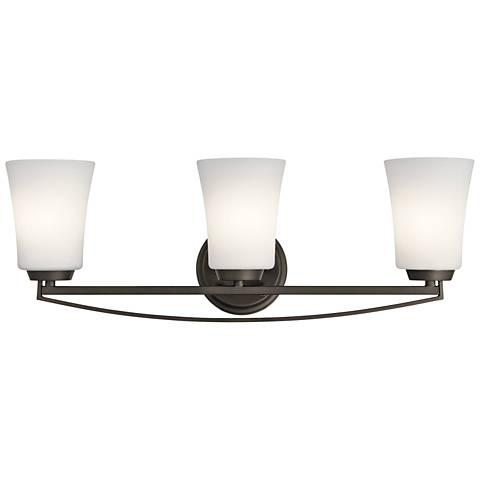 "Kichler Tao 24 1/4"" Wide Olde Bronze 3-Light Bath Light"