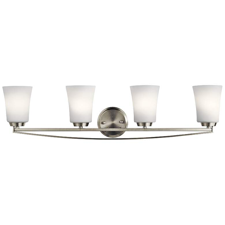 "Kichler Tao 34"" Wide Brushed Nickel 4-Light Bath"