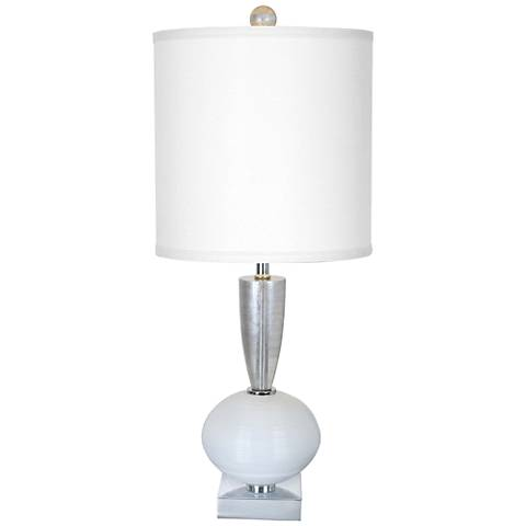 Van Teal Odessa Chrome and White Table Lamp