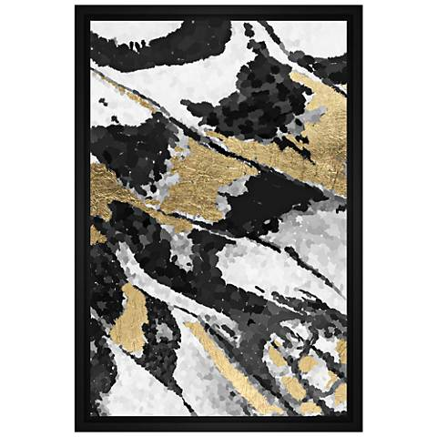 "Abstract Gray II 21 3/4"" High Framed Canvas Wall Art"