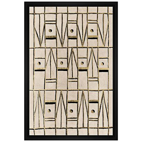 """Pattern in Sand 31 3/4"""" High Framed Canvas Wall Art"""