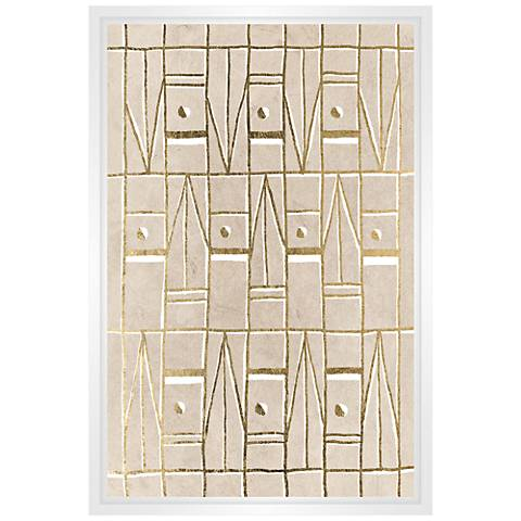 "Pattern in Sand II 21 3/4"" High Framed Canvas Wall Art"