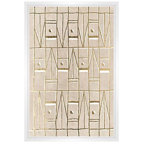 "Pattern in Sand II 31 3/4"" High Framed Canvas Wall Art"