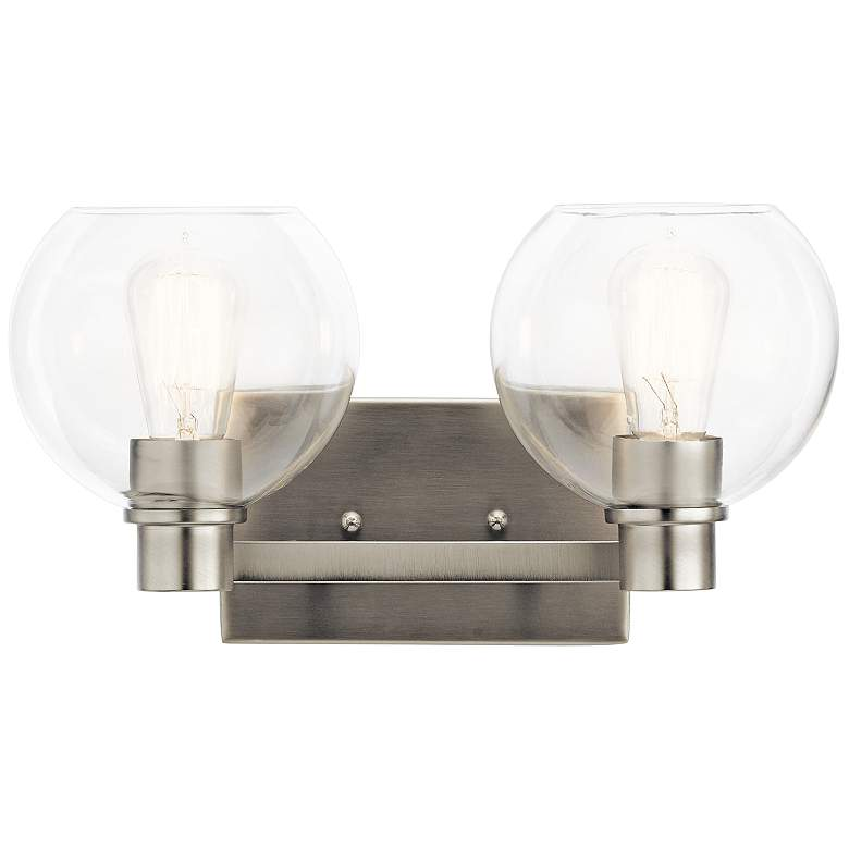 "Kichler Harmony 8 1/4""H Brushed Nickel 2-Light Wall Sconce"
