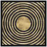 "Ripple Effect 21 1/2"" Square Framed Canvas Wall Art"
