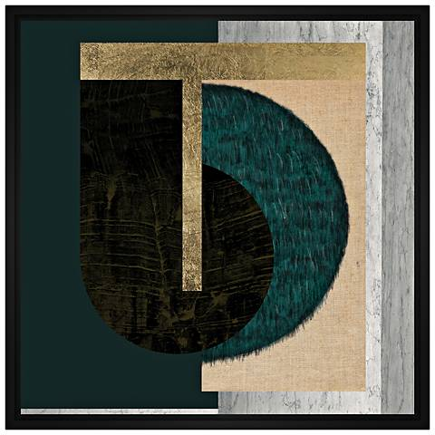 """Geometric Layers 21 1/2"""" Square Framed Canvas Wall Art"""