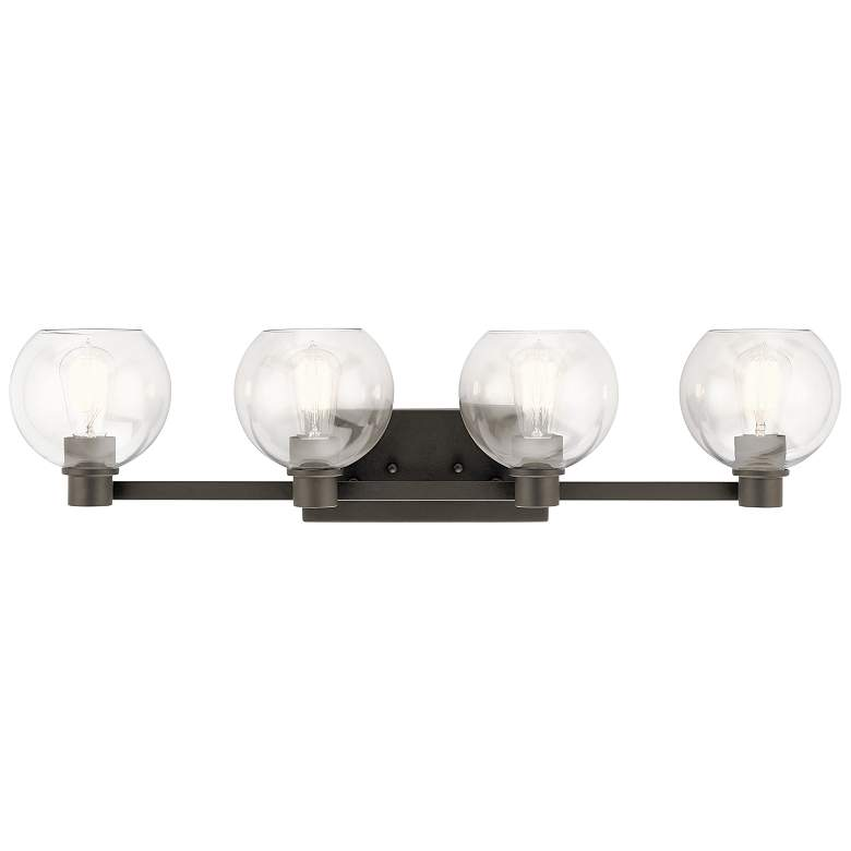 "Kichler Harmony 33 1/2"" Wide Olde Bronze 4-Light Bath Light"