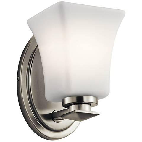 "Kichler Clare 7 1/4"" High Brushed Nickel Wall Sconce"