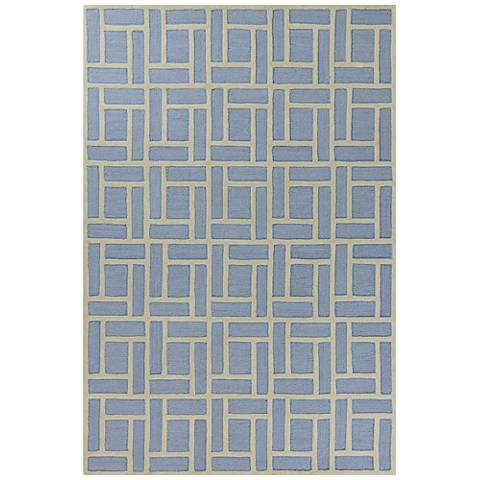 Libby Langdon Soho 5020 Blue Brick Area Rug