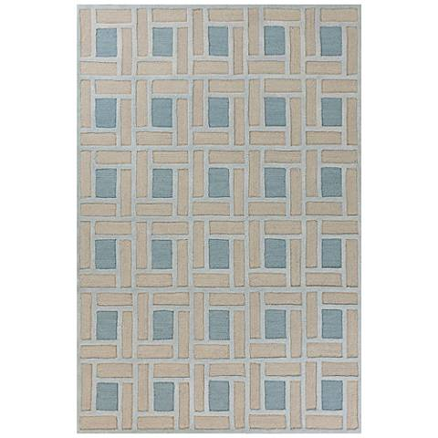 Libby Langdon Soho 5021 Spa Brick Area Rug 44d32 Lamps Plus