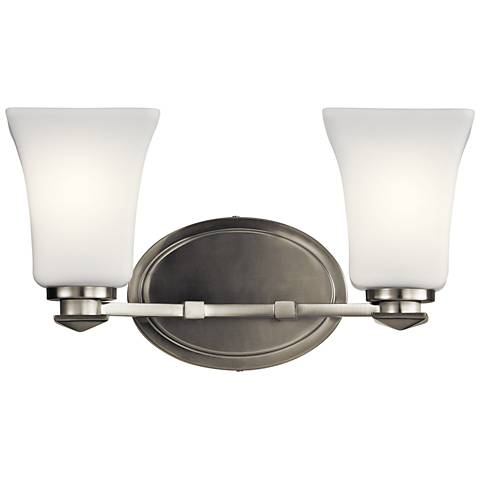 """Kichler Clare 7 3/4"""" High Brushed Nickel 2-Light Wall Sconce"""