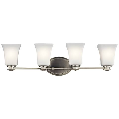 "Kichler Archer 28"" Wide Brushed Nickel 4-Light Bath Light"