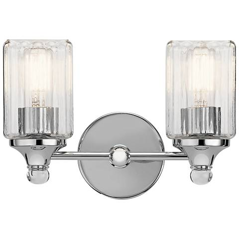 "Kichler Riviera 9"" High Chrome 2-Light Wall Sconce"