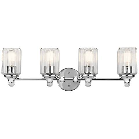 "Kichler Riviera 28"" Wide Chrome 4-Light Bath Light"