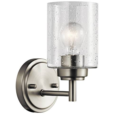 "Kichler Winslow 9 1/4"" High Brushed Nickel Wall Sconce"