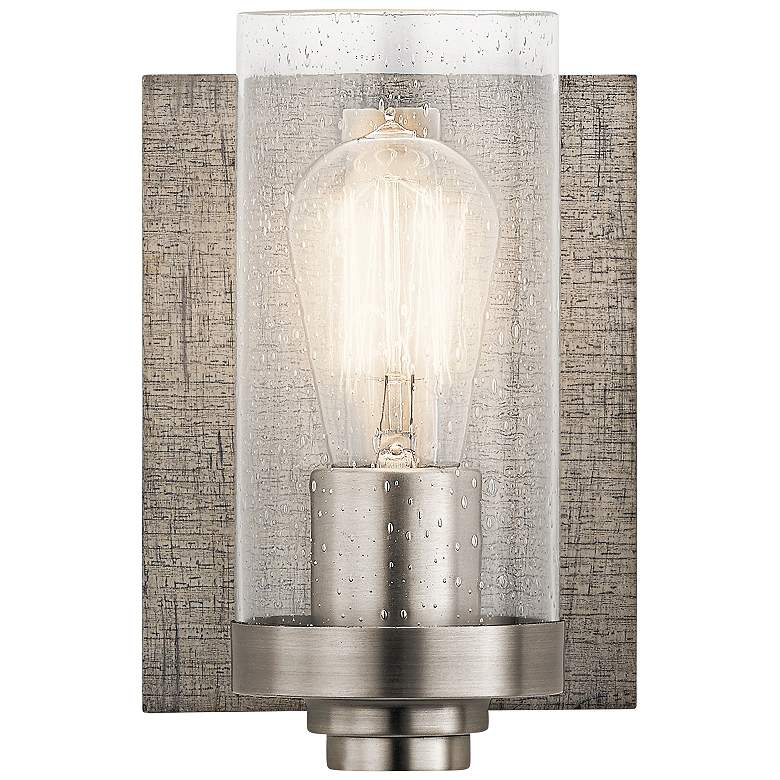 """Kichler Dalwood 8 1/4"""" High Classic Pewter Wall Sconce"""