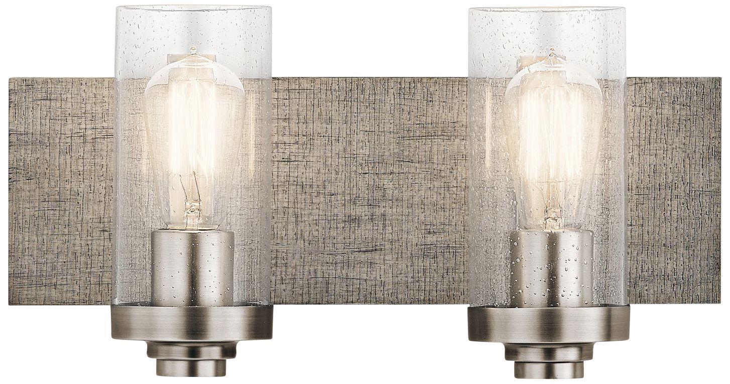 kichler dalwood 8 1 4 h classic pewter 2 light wall sconce rh lampsplus com