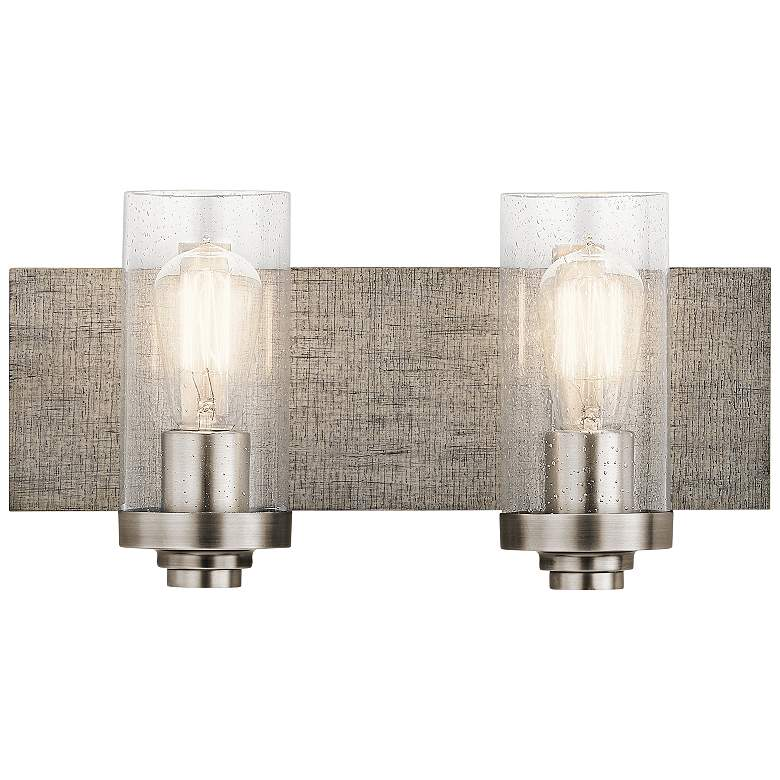 """Kichler Dalwood 8 1/4""""H Classic Pewter 2-Light Wall Sconce"""
