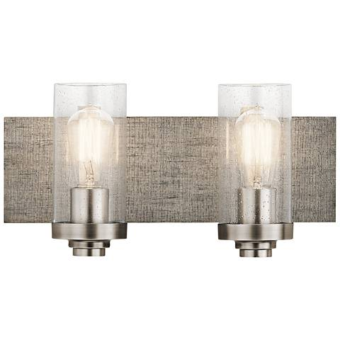 "Kichler Dalwood 8 1/4""H Classic Pewter 2-Light Wall Sconce"