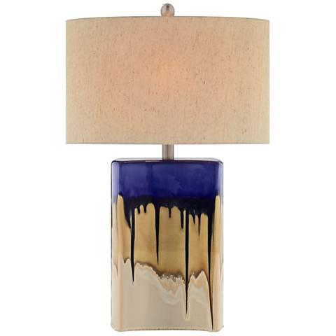 Potter Multi-Color Drip Glaze LED Table Lamp