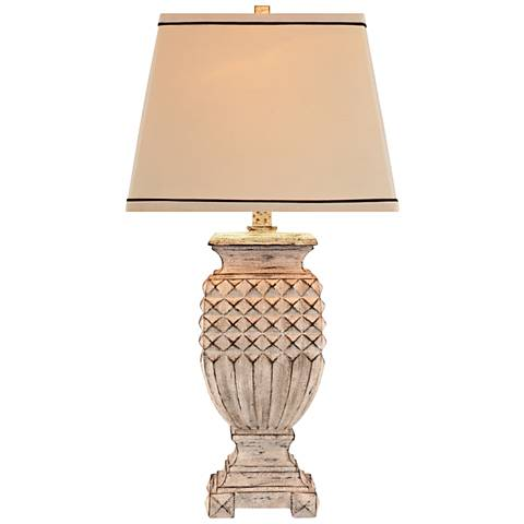 Willow Antique White Table Lamp