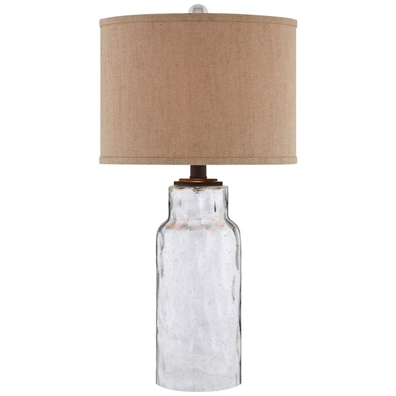 Ollie Clear Seeded Glass Table Lamp