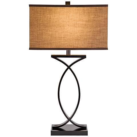 Aria Black Metal Table Lamp