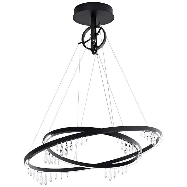 "Schonbek Solarius 39"" Wide Black LED Pendant Light"