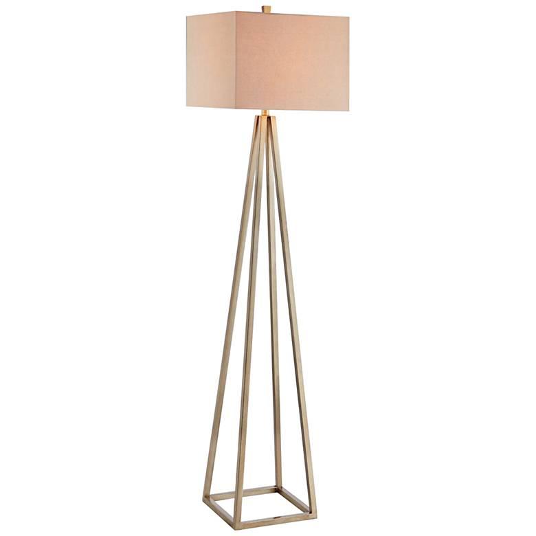 Ezra Painted Gold Floor Lamp