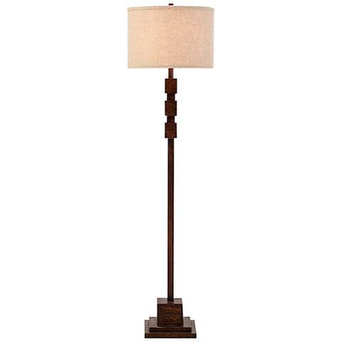 Sycamore Dark Faux Wood Floor Lamp