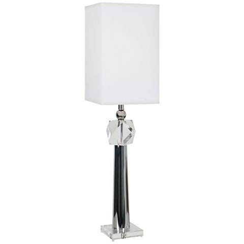 Van Teal Run Alone Chrome and Clear Table Lamp