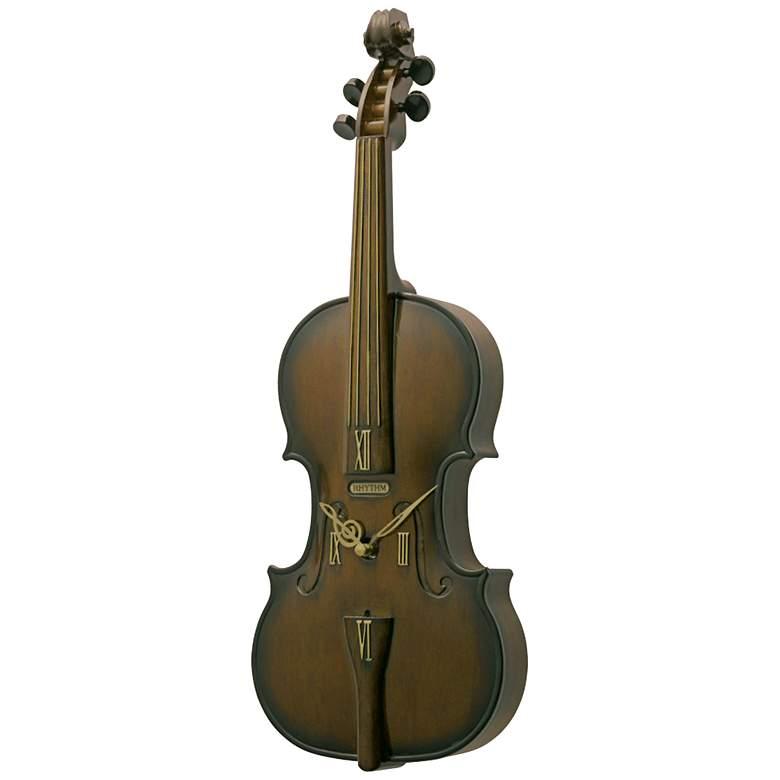 """Fiddler 19 1/4"""" High Windsor Cherry Wall Clock"""
