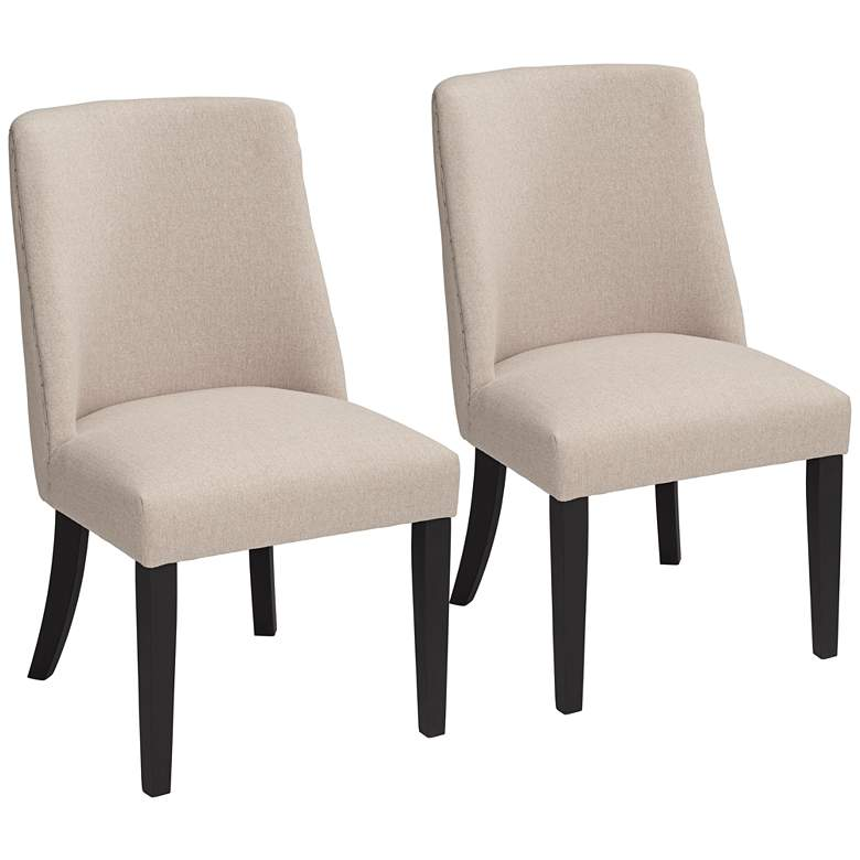 Manchester Parsons Cream Upholstered Dining Chairs Set of 2
