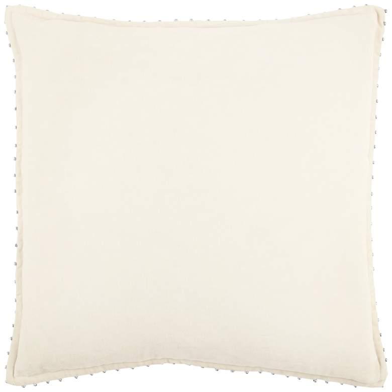 "Ivory Cotton 22"" Square Throw Pillow"
