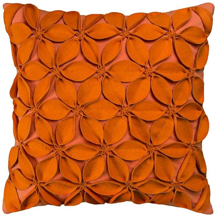Jessica Fl Petal Textured Orange 18