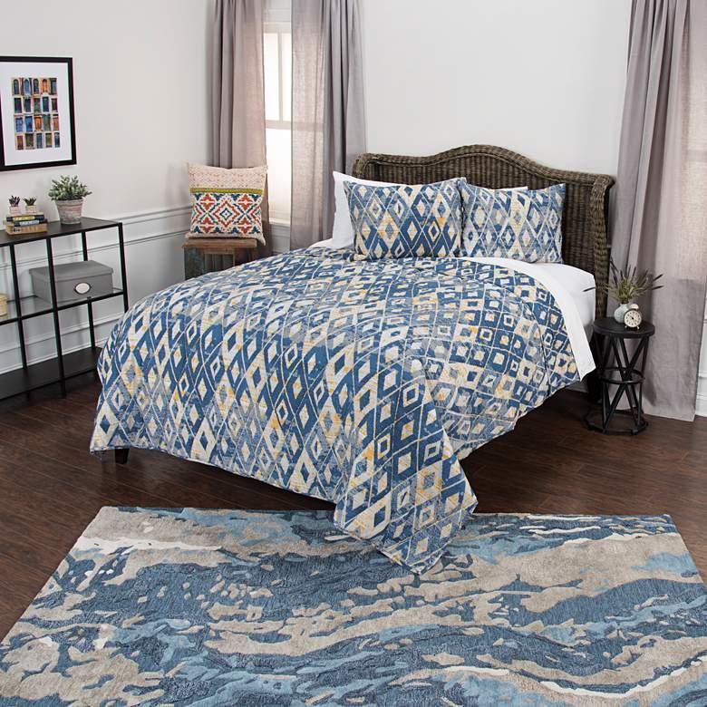 Maddux Place Blue Diamond 2-Piece Twin Quilt Set
