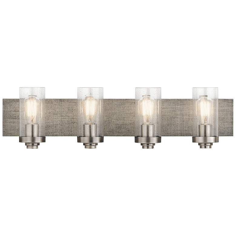 "Kichler Dalwood 32"" Wide Classic Pewter 4-Light Bath Light"