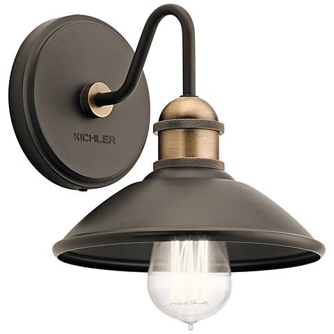 """Kichler Clyde 7 1/4"""" High Olde Bronze Wall Sconce"""