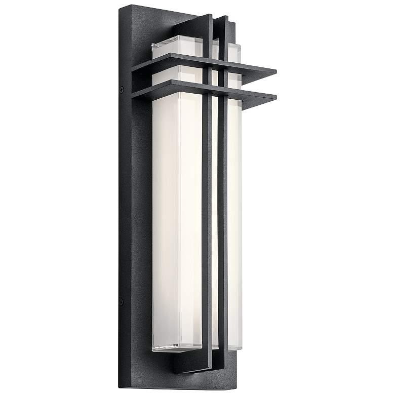 "Kichler Manhattan 16""H Textured Black LED Outdoor Wall"
