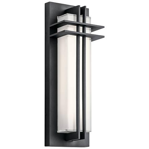 "Kichler Manhattan 16""H Textured Black LED Outdoor Wall Light"