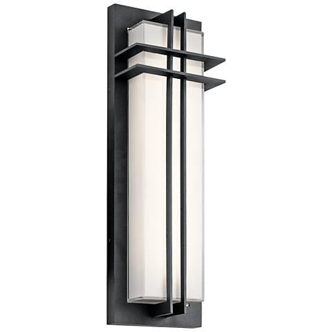 "Kichler Manhattan 22""H Textured Black LED Outdoor Wall Light"