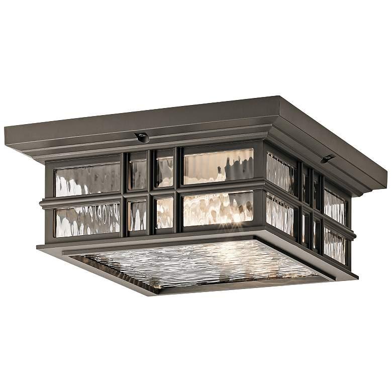 "Kichler Beacon Square 12""W Olde Bronze Outdoor Ceiling Light"