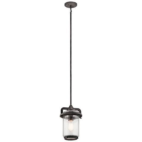 "Andover 13 1/2"" High Weathered Zinc Outdoor Hanging Light"